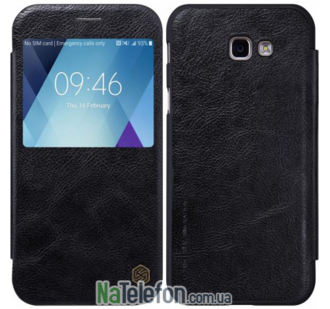 Кожаный чехол книжка NILLKIN Qin series Samsung A520 (A5-2017) Black