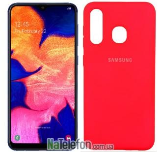 Чехол Original Soft Case для Samsung A30 2019 Ярко Розовый FULL