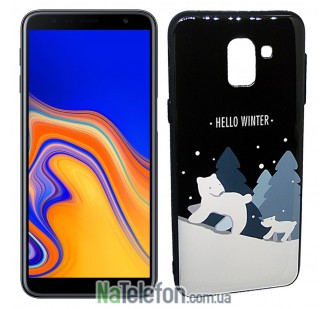 Чехол Silicone Christmas Case для Samsung J610 (J6 Plus) Bear