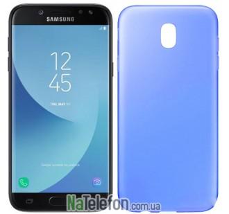 Силиконовый чехол Original Silicon Case Samsung J730 (J7-2017) Blue