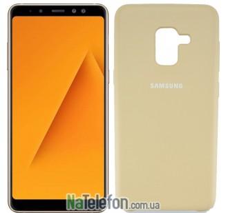 Чехол Original Soft Case для Samsung A8 2018 (A530) Светло коричневый