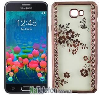 Чехол Joyroom Beauti Diamond Case для Samsung J5 Prime Pink Flours