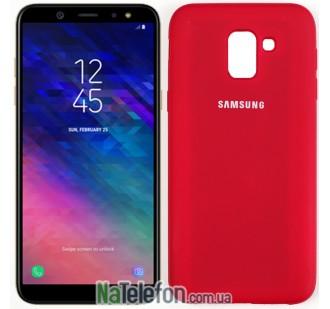Чехол Original Soft Case для Samsung J6 2018 Вишневый