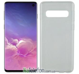 Ультра тонкий силиконовый чехол 0.3 mm для Samsung G973 Galaxy S10 White