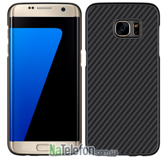 Карбоновый чехол NILLKIN Synthetic Fiber Series для Samsung G935 Galaxy S7 Edge Black