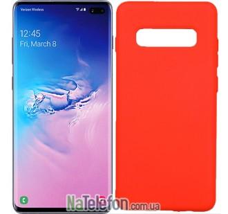 Чехол Original Soft Case для Samsung G975 Galaxy S10 Plus Оранжевый