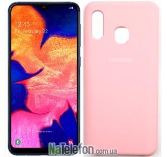 Чехол Original Soft Case для Samsung A30 2019 Светло Розовый