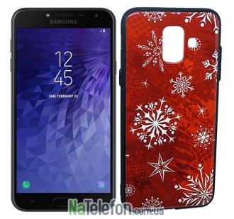 Чехол Silicone Christmas Case для Samsung J610 (J6 Plus) Snowflake