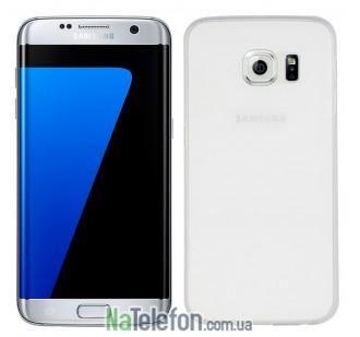 Ультра тонкий силиконовый чехол 0.3 mm для Samsung G935 Galaxy S7 Edge White