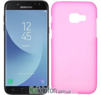 Силиконовый чехол Original Silicon Case Samsung A720 (A7-2017) Pink