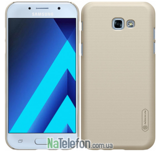 Чехол NILLKIN Super Frosted Shield для Samsung A320 (A3-2017) Gold