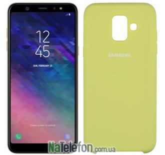 Чехол Original Soft Case Samsung A6 2018 Оливковый