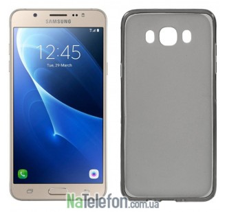 Силиконовый чехол Original Silicon Case Samsung J710 (J7-2016) Black