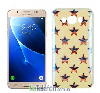 Силиконовый чехол Remax Light Series для Samsung J710 (J7-2016) USA Star