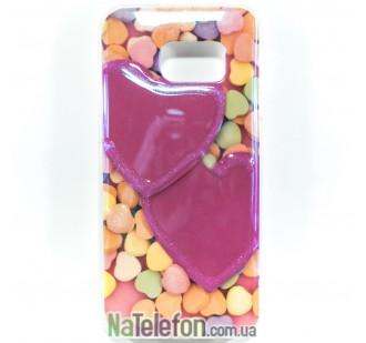 Силиконовый чехол Remax Light Series для Samsung G930 Galaxy S7 Candy Hearts
