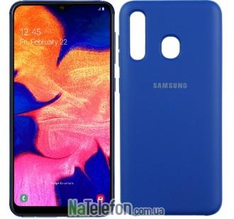 Чехол Original Soft Case для Samsung A30 2019 Темно Синий