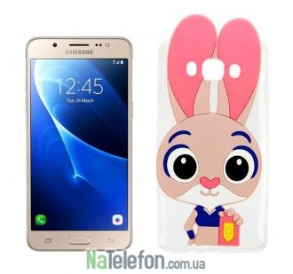 Силиконовый чехол Зверополис Rabbit Samsung J510 (J5-2016)