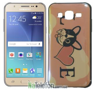 Чехол U-Like Picture series для Samsung J700 Love Pink