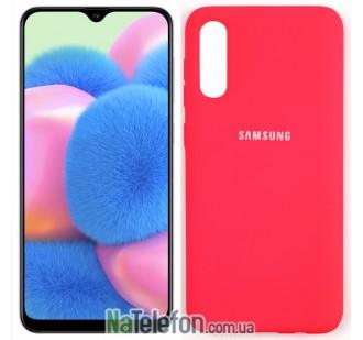 Чехол Original Soft Case для Samsung A50 2019 Ярко Розовый FULL