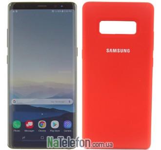 Оригинальный силиконовый чехол для Samsung N950 (Note 8) Красный