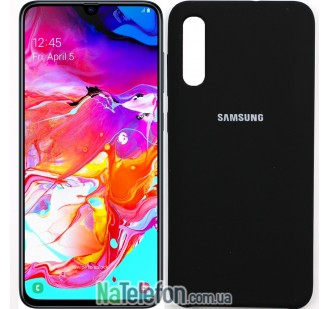 Чехол Original Soft Case для Samsung A70 2019 Черный