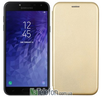 Чехол книжка U-Like Best для Samsung Galaxy J4 2018 Gold