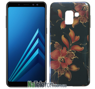 Чехол U-Like Picture series для Samsung A730 (A8 Plus 2018) Flowers