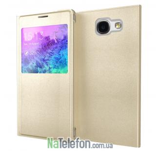Чехол Flip Wallet для SAMSUNG A5 2016/A510 (Gold)