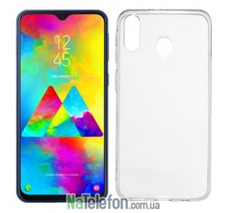 Ультра тонкий силиконовый чехол 0.3 mm для Samsung M205 Galaxy M20 (2019) White