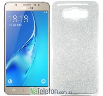 Силиконовый чехол Silicone 3in1 Блёстки для Samsung J710 White