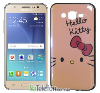Чехол U-Like Picture series для Samsung J700 Hello Kitty