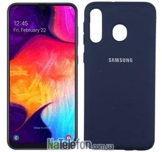 Чехол Original Soft Case для Samsung A30 2019 Темно Синий FULL