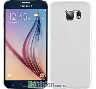 Чехол Original Silicone Case для Samsung G920 (S6) White