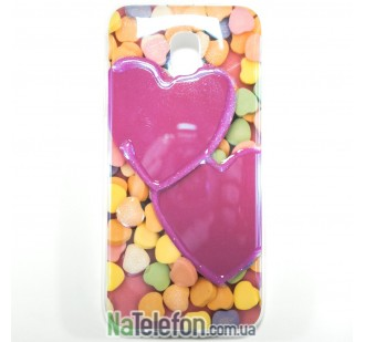 Силиконовый чехол Remax Light Series для Samsung J330 (J3-2017) Candy Hearts
