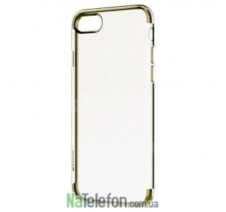 Чехол Electroplating TPU case для Samsung S4 gold