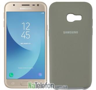 Чехол Original Soft Case для Samsung A320 (A3-2017) Пепельно серый