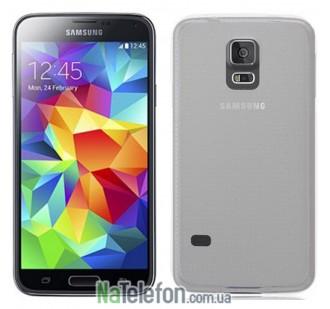 Ультра тонкий силиконовый чехол 0.3 mm для Samsung G900 S5 White