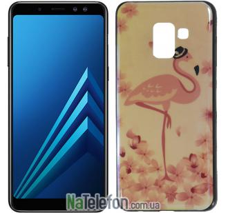 Чехол U-Like Picture series для Samsung A730 (A8 Plus 2018) Flamingo