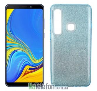 Чехол Silicone 3in1 Блёстки для Samsung A9 2018 (A920) Blue