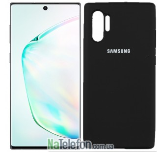 Чехол Original Soft Case для Samsung Note 10 Plus Чёрный FULL