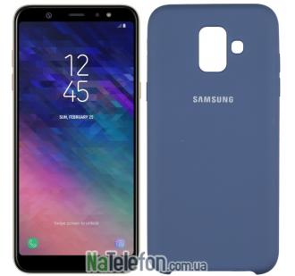 Чехол Original Soft Case Samsung A6 2018 Синий
