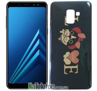 Чехол U-Like Picture series для Samsung A730 (A8 Plus 2018) Love Balck