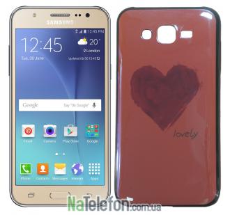 Чехол U-Like Picture series для Samsung J700 Heart Pink