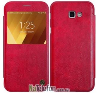 Кожаный чехол книжка NILLKIN Qin series Samsung A520 (A5-2017) Red
