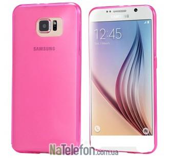 Ультра тонкий силиконовый чехол Remax 0.2 mm для Samsung G920 (S6) Pink