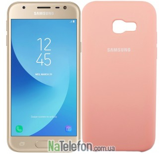 Чехол Original Soft Case для Samsung A320 (A3-2017) Розовый