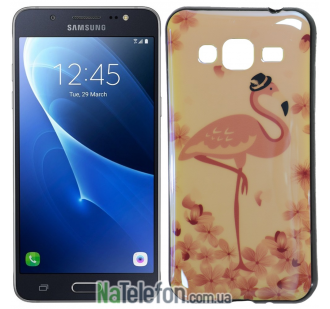 Чехол U-Like Picture series для Samsung J300/J320 Flamingo