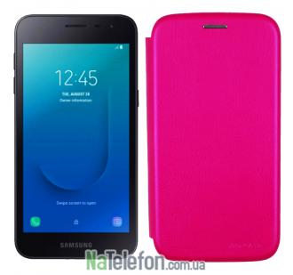 Чехол книжка U-Like Best для Samsung Galaxy J260 (J2 Core) Pink