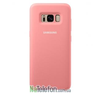 Оригинальный силиконовый чехол для Samsung G955 Galaxy S8 Plus Розовый