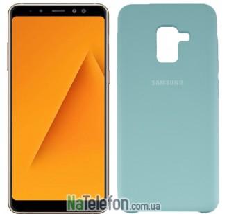 Чехол Original Soft Case для Samsung A8 plus 2018 (A730) Светло голубой